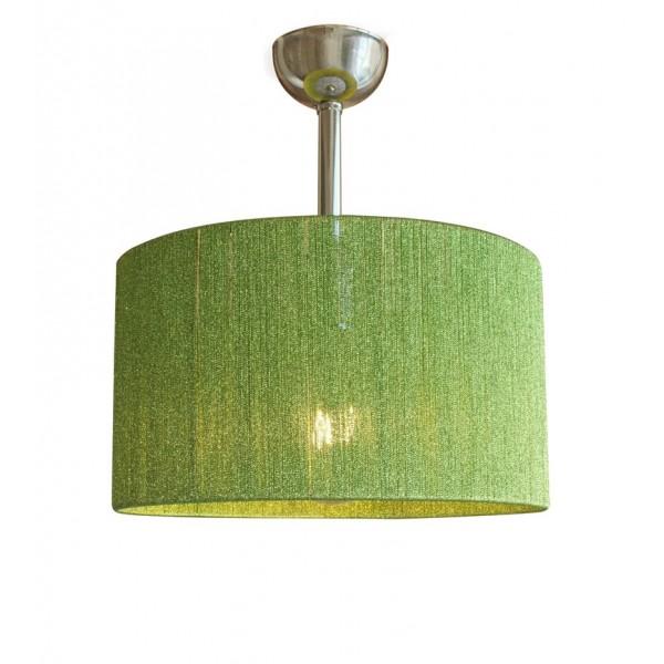 Μονόφωτο Όλγα 35cm Κύλινδρος Πράσινο