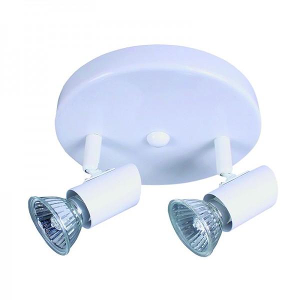 InLight Επιτοίχιο σποτ από μέταλλο σε λευκή απόχρωση (9077-2Φ-Λευκό)