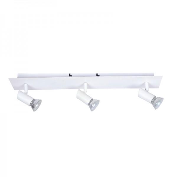 InLight Επιτοίχιο σποτ από μέταλλο σε λευκή απόχρωση (9078-3Φ-Λευκό)
